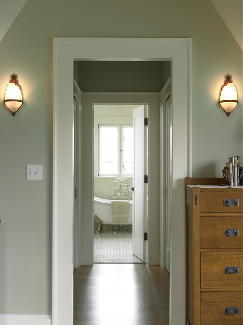 Everett Residence master bedroom traditional