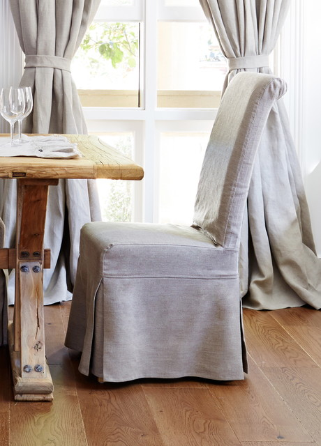 dining chair linen slipcover traditional dining