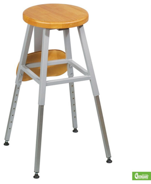 18.25   29.25H x 16.25W x 16.25D Lab Stool  Gray Frame contemporary-bar-stools-and-counter-stools