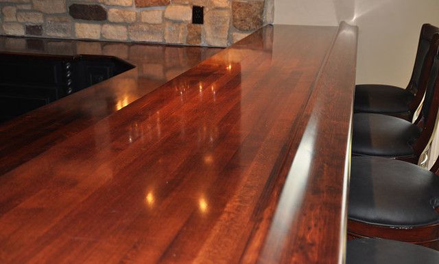 Maple Wood Bar Top Rail By Grothouse Traditional