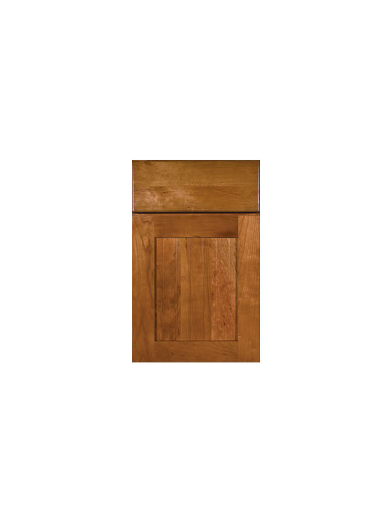 Cherry Door Styles from Wellborn Cabinet, Inc. - Harbour Cherry is embellished with solid wood bead board doors and sleek drawer profiles that lends itself to all designs featured here in Natural Cherry.