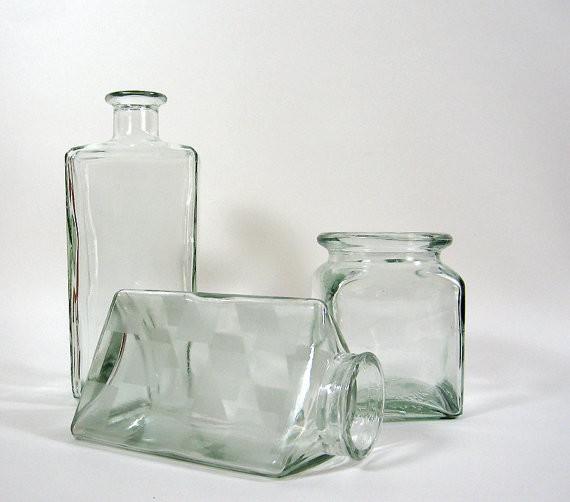 Vintage Glass Bottles by The Vintaquarian modern-vases