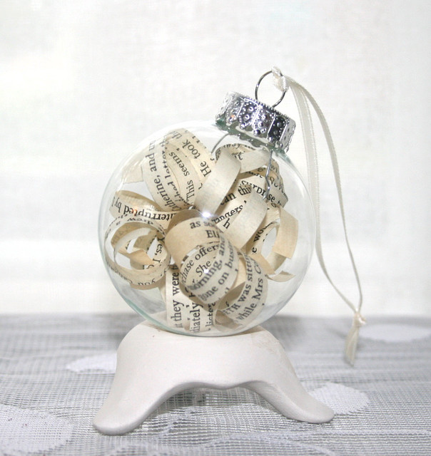 Shabby Chic Ornament, Pride and Prejudice by Inspirations by Faith contemporary-christmas-ornaments