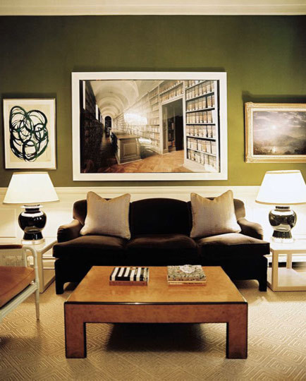 Olive Green Interiors | Apartment Therapy New York contemporary