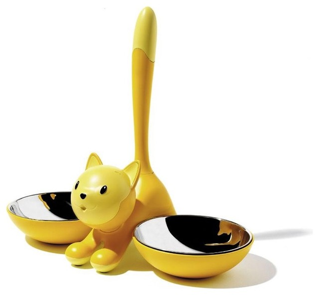 tigrito cat bowl by miriam mirri for alessi modern-pet-bowls-and-feeding