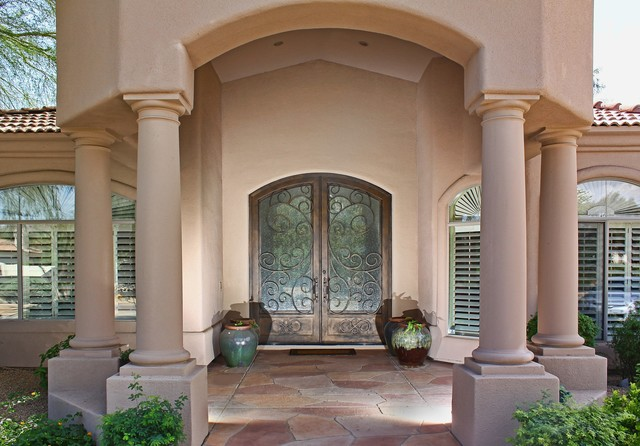 Custom Iron Entry Door By First Impression Security Doors Contemporary Entry Phoenix By