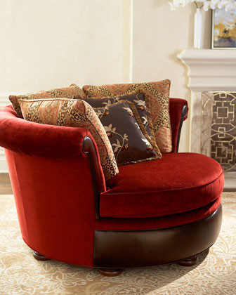 Massoud Luxury Cuddle Chair Eclectic Living Room Chairs By Horchow