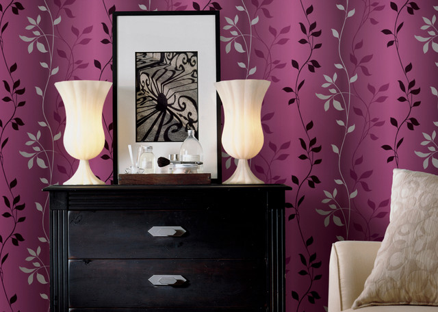 Home decorating eclectic wallpaper nashville by for Wallpaper decoration for home