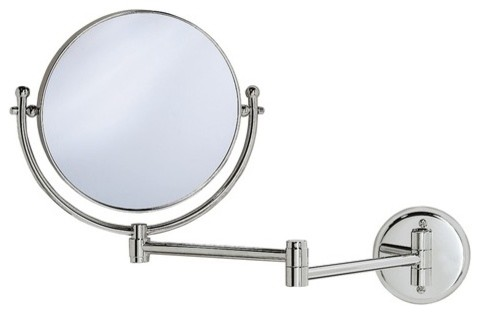 """Magnifying 8"""" Swinging Wall Mirror in Chrome modern-makeup-mirrors"""