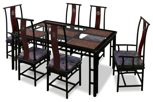 74in Rosewood Ming Style Dining Table with 6 Chairs  : asian dining sets from www.houzz.com size 640 x 426 jpeg 77kB