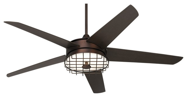 60 possini euro edge ii oil rubbed bronze ceiling fan industrial ceiling fans by euro - Industrial style ceiling fan with light ...