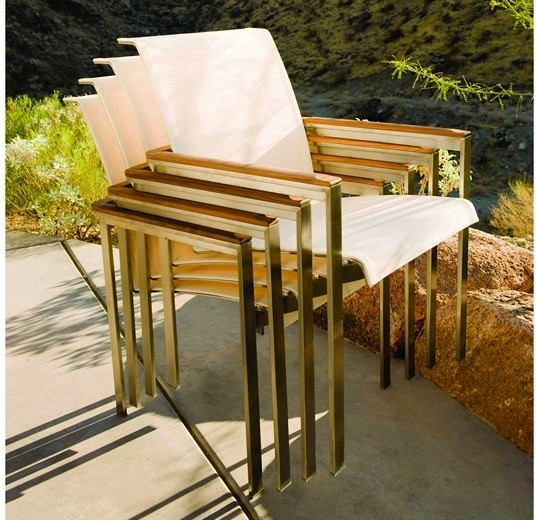 Kingsley Bate Tivoli Dining Armchair Modern Patio Furniture And Outdoor Furniture Miami