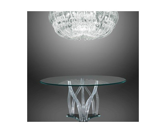 FLAMBE CLEAR MURANO DINING TABLE - FLAMBE – To Order