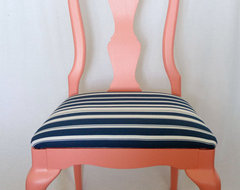 Coral and Navy Chair By Life at Second Glance contemporary chairs
