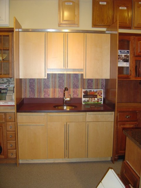 Showroom Displays Contemporary Kitchen Cabinetry