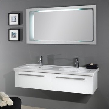"55.5"" Bathroom Vanity Iotti FL2 From Fly Collection - HomeThangs.com modern-bathroom-vanities-and-sink-consoles"