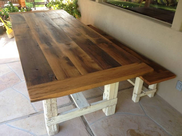 Reclaimed Oak Farmhouse Table Bench Farmhouse Dining Tables phoenix b