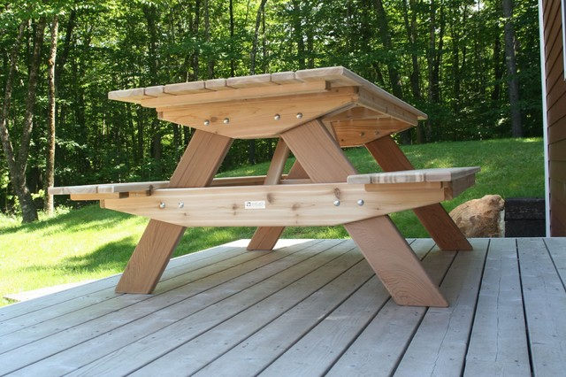 6 foot solid western red cedar picnic table traditional for 10 ft picnic table