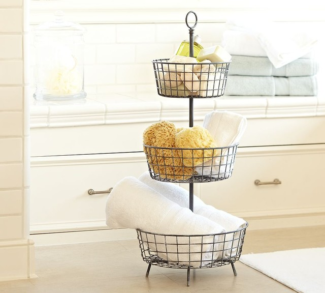 tiered bath storage traditional bathroom accessories by pottery