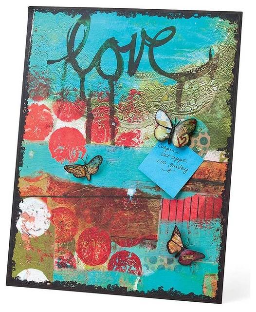 DEMDACO Kelly Rae Roberts Collection Love Memo Board contemporary-desk-accessories