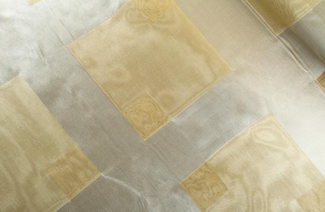 Palomar Silk Drapery Fabric in Cream Candlestick modern-fabric
