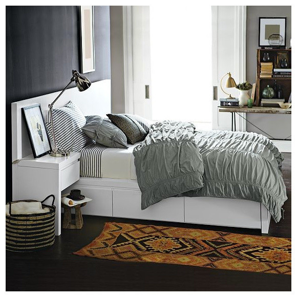 storage bed frame contemporary beds by west elm. Black Bedroom Furniture Sets. Home Design Ideas