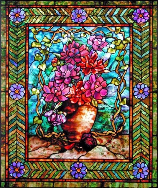Leaded Glass Floral Windows And Transoms New York By