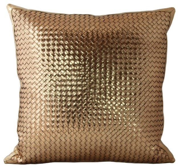 Woven Leather Throw Pillows - Contemporary - Decorative Pillows - los angeles - by Gracious Style