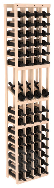 4 Column Display Row Cellar Kit in Pine with Satin Finish traditional-wine-racks