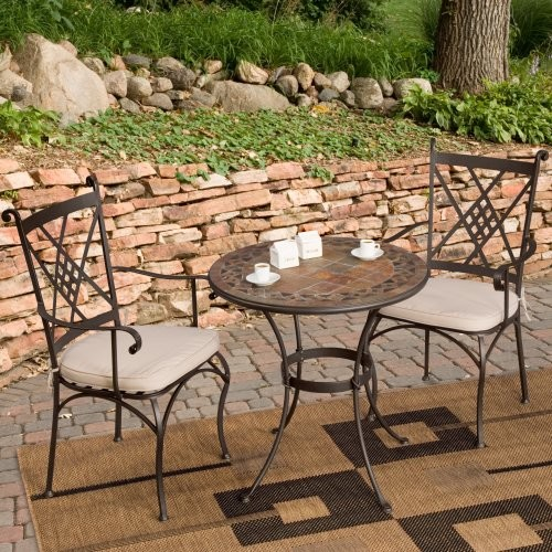 Palazetto Lucca Mosaic Bistro Set Contemporary Patio Furniture And Outdoo