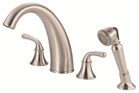 Danze Bannockburn Roman Tub Faucet with Soft Touch Personal Shower D307756 modern-bathroom-faucets-and-showerheads