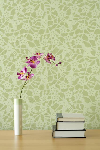 Japanese birds allover wall stencil asian wall stencils san diego by royal design studio - Oriental stencils for walls ...