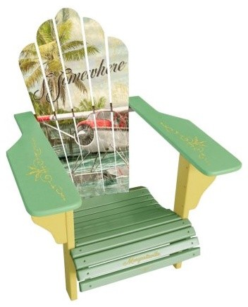 Margaritaville Deluxe Adirondack - St. Somewhere Seaplane eclectic outdoor chairs