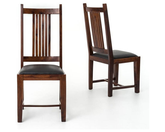Four Hands - Provence Dining Chair Leather Seat - If you want to talk about rustic-refined style, pull up a chair. This dining chair features rich wood tones and simple, traditional styling enhanced by the detailed center splat. Bring a bit of Provence to your room.