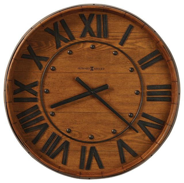 Reclaimed Wine Barrel Wall Clock Farmhouse Wall Clocks by Interior Clue