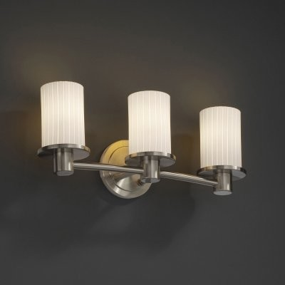 Justice Design Group Fusion FSN-8513-10-RBON-NCKL Rondo 3-Light Bath Bar - Nicke modern-bathroom-vanity-lighting