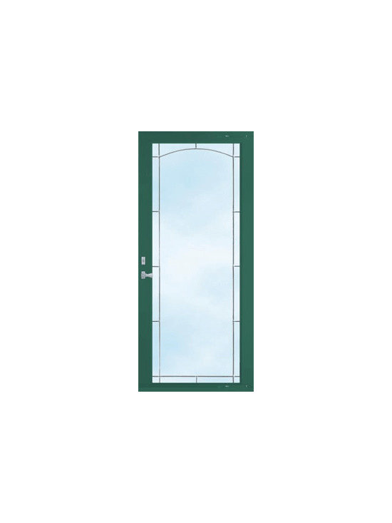 Storm Doors - A green storm door can be the perfect match for a home. The appeal of any home increases with a properly selected storm door. Share with your friends if this is a door idea you would use for your home. | Baltimore, MD | Clearview Window & Door Company