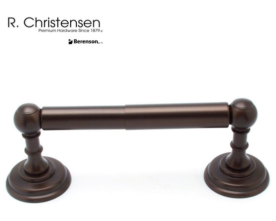 2112US10B Oil Rubbed Bronze 2-Post Tissue Holder by R. Christensen - 8-1/2 by 2-3/16 inch traditional style 2-post tissue holder by R. Christensen in Oil Rubbed Bronze.