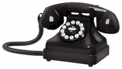 Retro desk phone eclectic-home-electronics