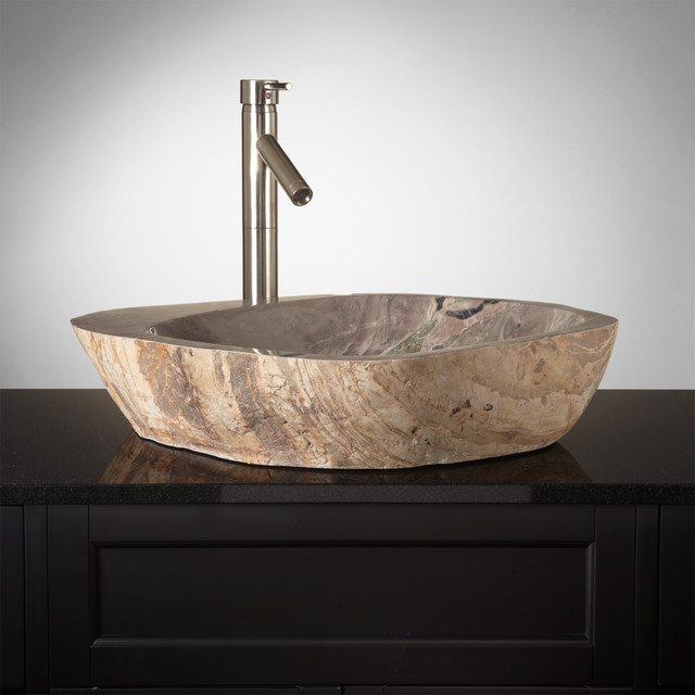 Natural Stone Sinks Bathroom : Glenlyon Natural Stone Vessel Sink - Contemporary - Bathroom Sinks ...