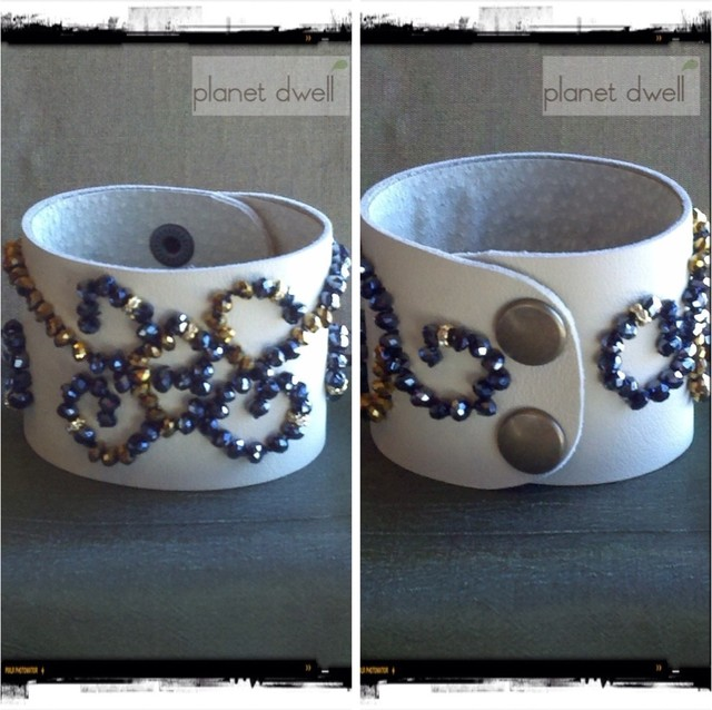 PlanetDwell Leather Cuffs eclectic-artwork