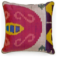 Multi-Plum Ikat Pillow from Madeline Weinrib Atelier eclectic-decorative-pillows