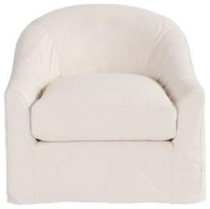 Lenoir Swivel Chair Slipcover Contemporary Armchairs