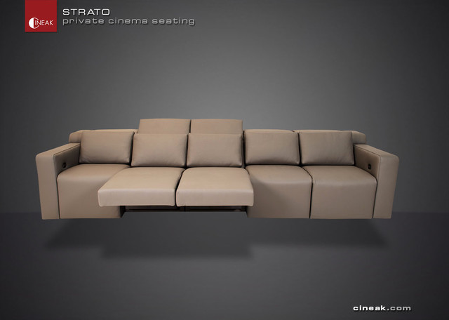 media room sectional sofa by cineak strato modern