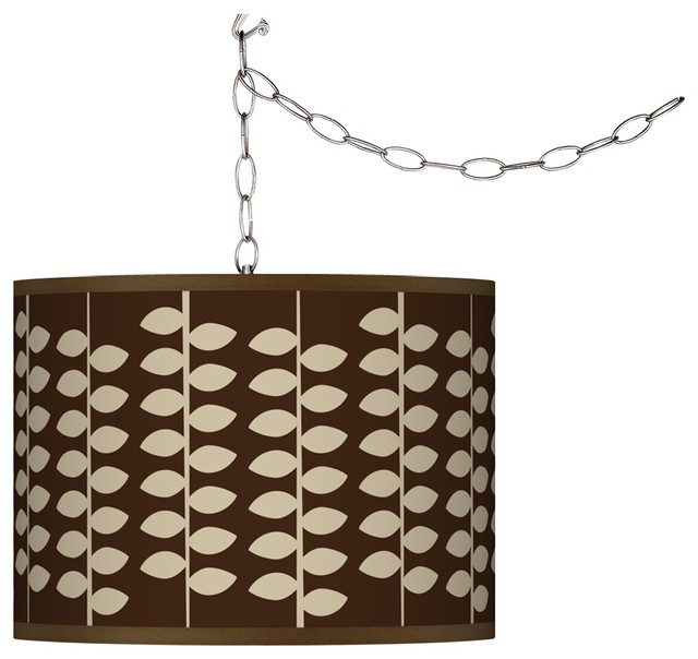 Asian Swag Style Hi Fi Shade Plug-In Chandelier - Modern - Chandeliers - by Lamps Plus