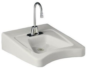 Wheelchair Bathroom Sink : ... Lavatory with Single-Hole Drilling in Wh traditional-bathroom-sinks