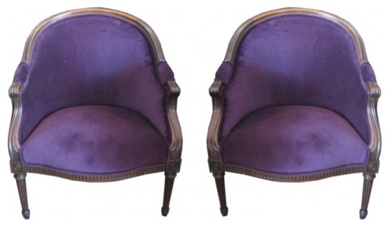 Purple velvet chairs victorian armchairs and accent chairs by