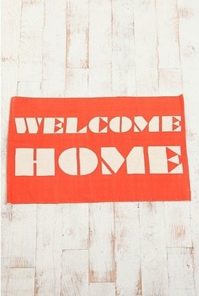 Welcome Home Rug modern-doormats