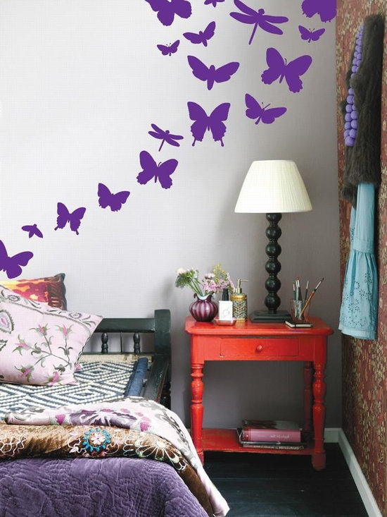 Ferm Living Butterflies WallSticker - With Ferm Living WallStickers it is easy to create a new look and change the style in a room in a matter of minutes. By using WallStickers, your kids can also help decorate their own room in an array of colors.
