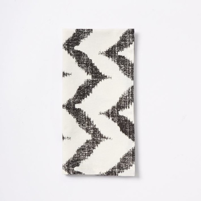 Ikat Zigzag Napkins, Iron contemporary-napkins